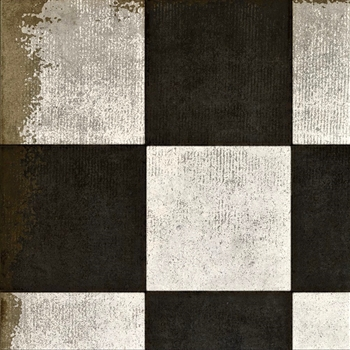 Floorcloth - #07 Checkered Past - Detail 20SQ