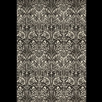 Floorcloth - Bluebell Black & Dove 38W/56L - Morris & Co