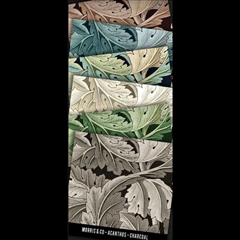 Floorcloth - Acanthus - Swatch Set of 6 - 5IN SQ - Morris & Co