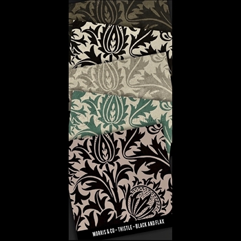 Floorcloth - Thistle - Swatch Set of 5 - 5IN SQ - Morris & Co