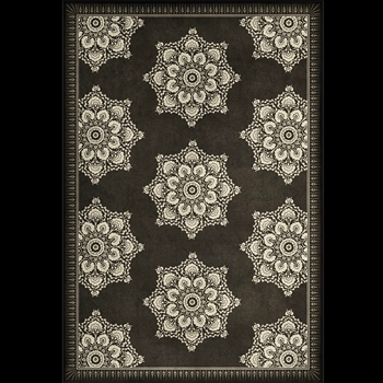 Floorcloth - Indian Loop Charcoal & Clay 38W/56L - Morris & Co