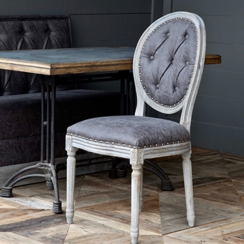 Dining Chair - Cameo Grey Tufted 20W/39H