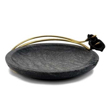 Aram Calla Midnight Dish Marble - 8.5IN