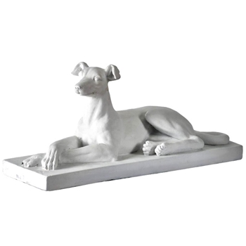 Dog - Greyhound  White 24W/9D/12H