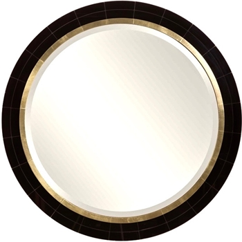 36W/36H Mirror - Nayla Black Gold 3in Projection