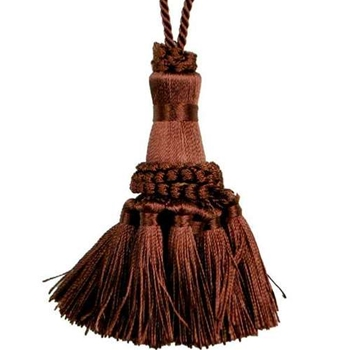 Key Tassel - Lafayette Chocolate 4IN