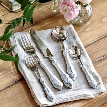 Cutlery - Victorian White 5PC Set