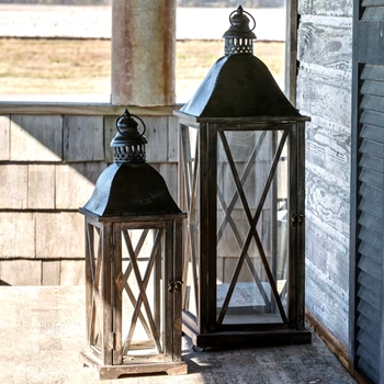 Lantern - Country Club Set of 2 10X31, 8x22