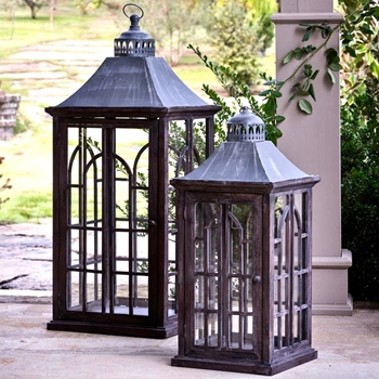 Lantern - Palladian 18x41IN Set  of 2 SM- 13x29