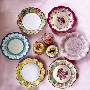 Alice - Paper Plate Chintz Assortment 8IN 12PK