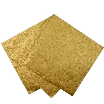 Alice - Paper Napkin Embossed Gold Lunch