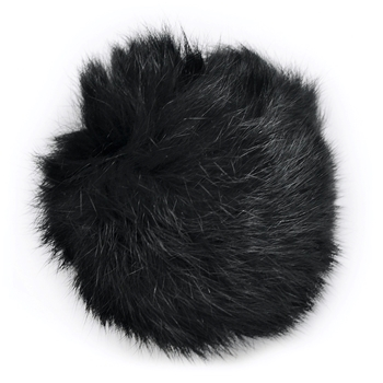 Pom Pom - Black Rabbit Applique 2.5IN