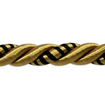 Cord - Savannah Black/Gold 3/8IN
