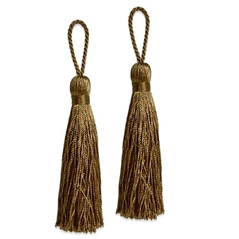 Key-Tassel Elegance Pair 3.5IN Bronze
