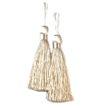 Key-Tassel Elegance Pair 3.5IN Ivory
