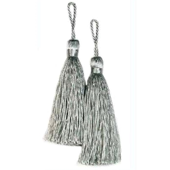 Key-Tassel Elegance Pair 3.5IN Silver