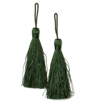 Key-Tassel Elegance Pair 3.5IN Olive Green