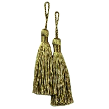 Key-Tassel Elegance Pair 3.5IN Kiwi