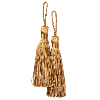 Key-Tassel Elegance Pair 3.5IN Gold