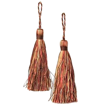 Key-Tassel Elegance Pair 3.5IN Terracotta