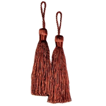 Key-Tassel Elegance Pair 3.5IN Rust