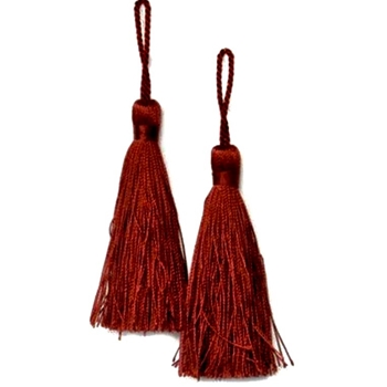 Key-Tassel Elegance Pair 3.5IN Ruby