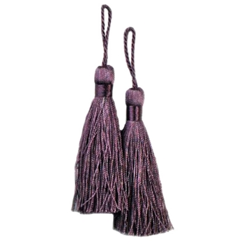 Key-Tassel Elegance Pair 3.5IN Amethyst