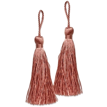 Key-Tassel Elegance Pair 3.5IN Salmon