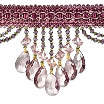 Glass Fringe - Isabella 4in Petal Pink