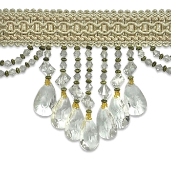 Glass Fringe - Isabella 4in Ivory