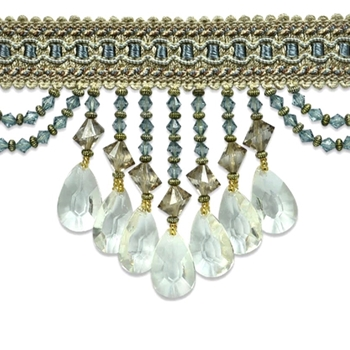Glass Fringe - Isabella 4in Aqua Mist