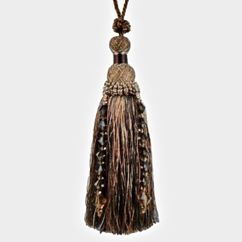 Key-Tassel Krista Beaded 7IN Mocha