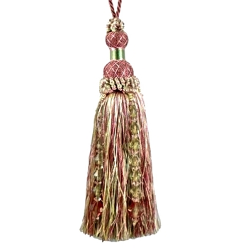 Key-Tassel Krista Beaded 7IN Petal Pink