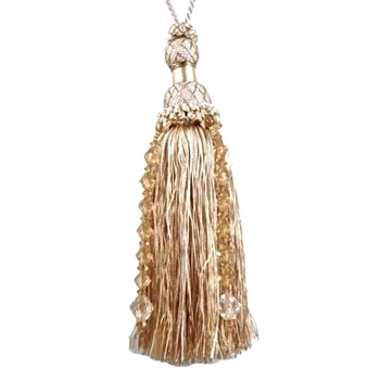 Key-Tassel Krista Beaded 7IN Champagne