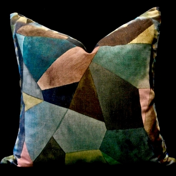 43. Geo Modern Cushion Bronze 20SQ