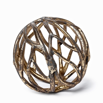 Globe - Sphere Twig Gild Gold 5IN