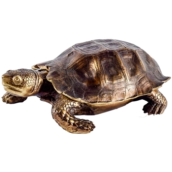 Box - Turtle Golden Bronze 11X7X4H