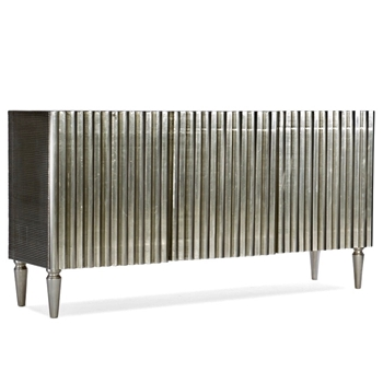 Console - Pleated German Silver 3door 68W18D/35H