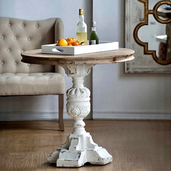 Accent Table - Alcott White Wash 32W/31H