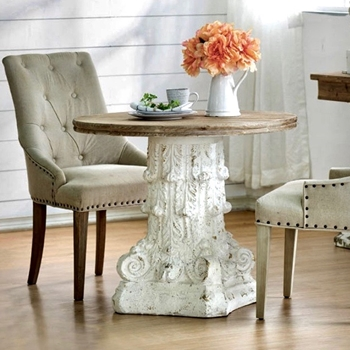 Accent Table - Corinthian White Wash 35W/31H