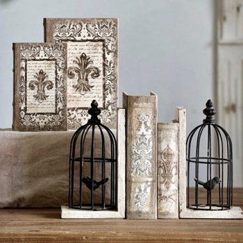 Book Box - Fleur D'Lys Set of 2 11W/8D/3H