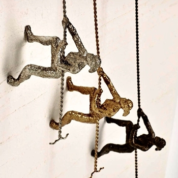 Figure - Climbing Woman Bronze, Silver, Gold  6X4X42H
