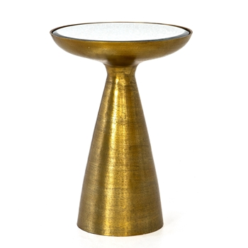 Accent Table - Marlow Mod Brass 16W/22H