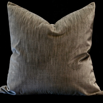 06. Flax Ecstatic Sterling Velvet Euro Cushion 26SQ
