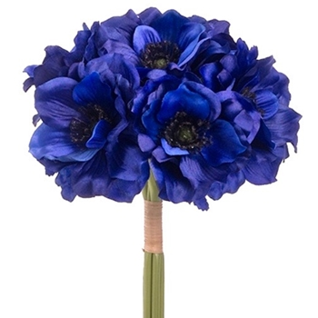 32. Anemone Bouquet 12in Lapis Blue