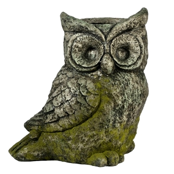 Planter - Owl Moss Aged Stone Finish 16W/11D/18H