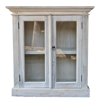 Console Buffet - Cotton White Washed 31W/15D/33H Solid Cottonwood