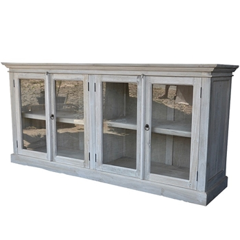Console Buffet - Cotton White Washed 71W/20D/34H Solid Cottonwood