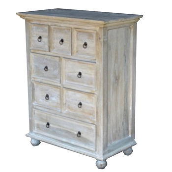 Chest - Dresser Cotton 32W/17D/39H 8 Drawer - Solid Cottonwood