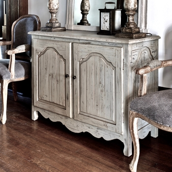 Console Chest Painted French Grey wash 47W,18D/34H